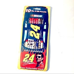✏️ 2001 Jeff Gordon 24 NASCAR 10 #2 Wooden Pencils